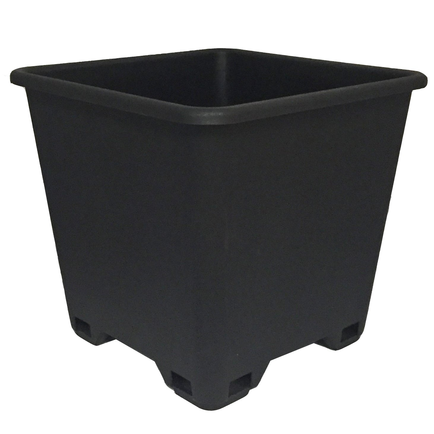 Trade 7 Gallon, Re-usable Square Nursery Pot, Case of 5