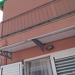 MCTECH 150 x 90 cm Marquesina Toldo para terrazas Tejadillo de protección para puertas y ventanas, Blanco: Amazon.es: Bricolaje y herramientas