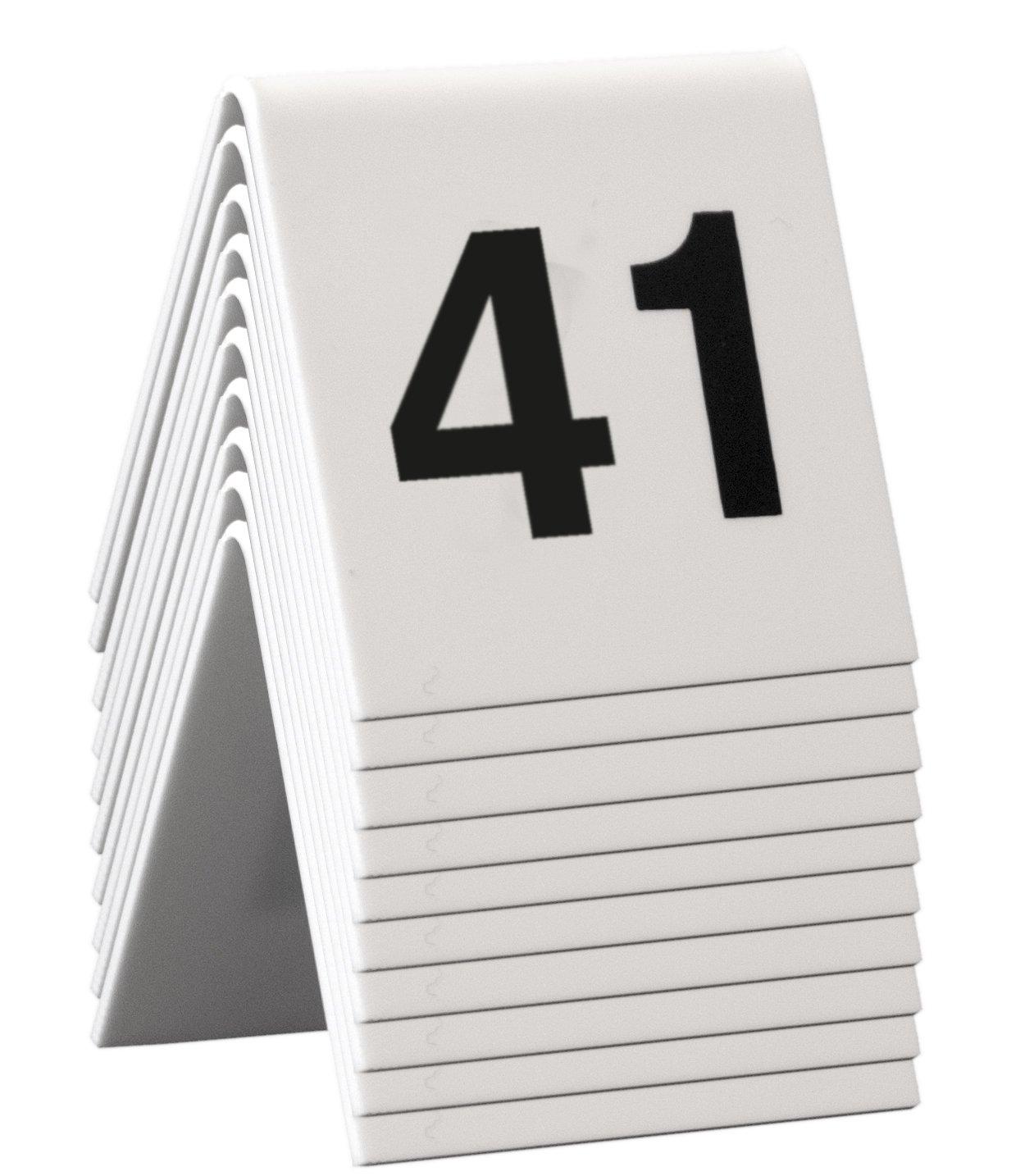Securit–Lavagna da tavolo 41–50Marche, numeri, 4x 4x 5cm (TN–41–50) The Office Product Network TN-41-50-WT