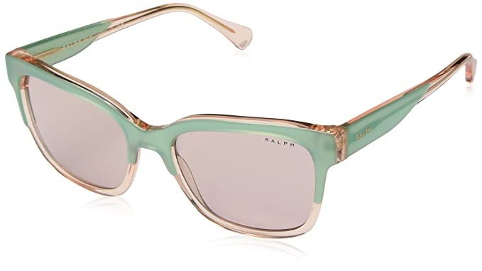 Ralph 0RA5247, Gafas de Sol para Mujer, Top Green/Light Rose, 55