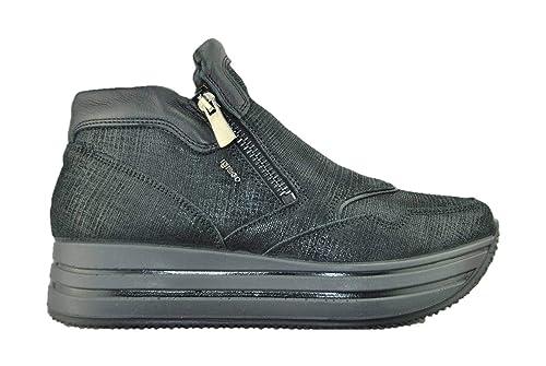 046fdad30aec2 IGI CO 2146611 Nero Sneakers Stivaletto Donna con Gomma Alta  Amazon ...