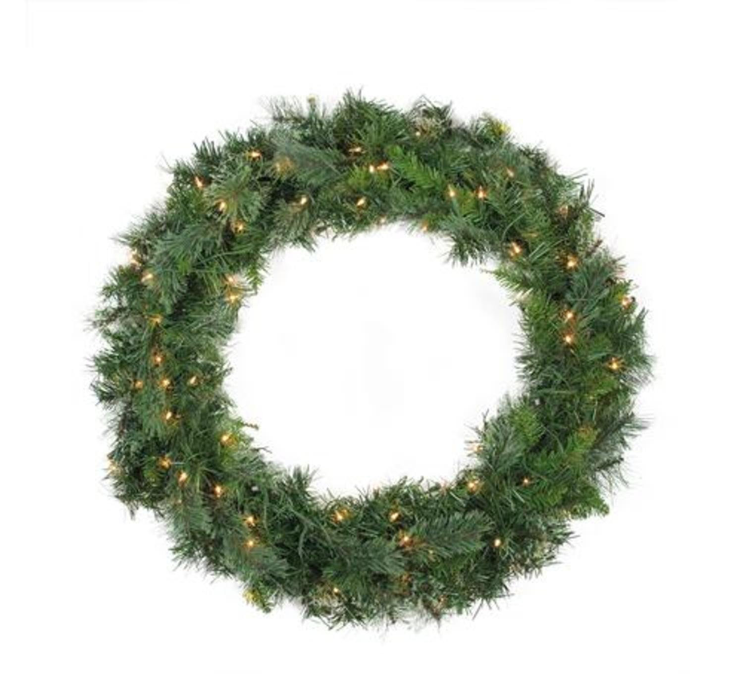 Northlight 48'' Pre-Lit Mixed Cashmere Pine Artificial Christmas Wreath - Clear Lights