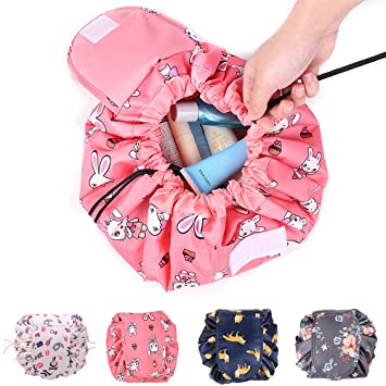 Drawstring Cosmetic Bag Travel Makeup Bag Lazy Quick Makeup Bag,Cute Portable Waterproof Travel Cosmetic