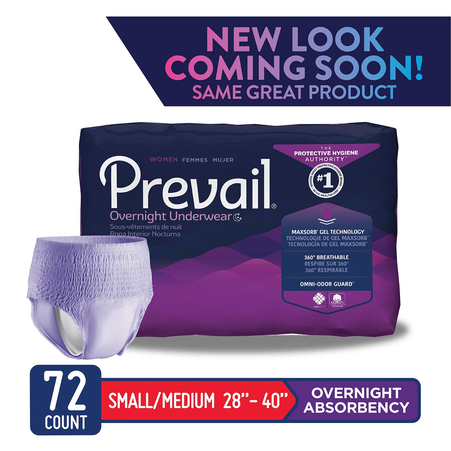 0ed3fddb3f55 Amazon.com  Prevail Overnight Absorbency Incontinence Underwear for ...