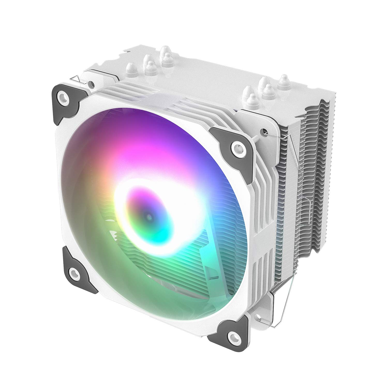 Vetroo V5 White CPU Air Cooler W/ 5 Heat Pipes 120mm PWM Pro