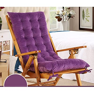 Lin Lon Rocking Chair Cushions Soft High Back Cushions for Indoor/Outdoor Swing/Bench Cushion (Color : Purple, Size : 120cmx48cm): Home & Kitchen