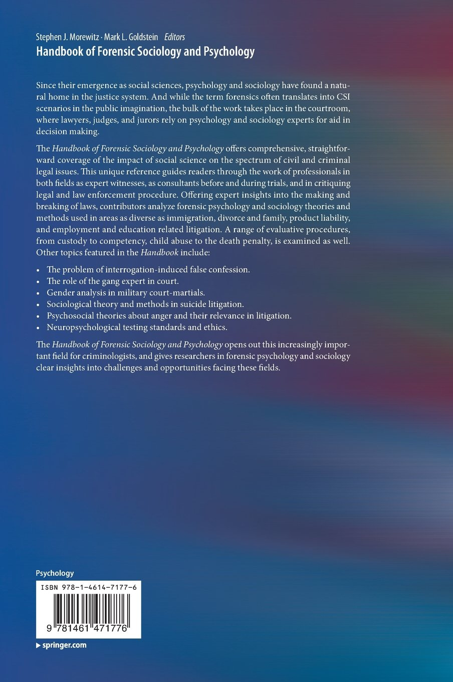 Forensic Psychology: Selected full-text books and articles