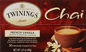 Twinings of London French Vanilla Chai Tea Bags, 20 Count