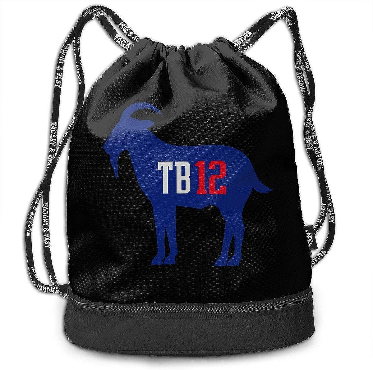 Drawstring Bag England Brady TB12 Goat Gym Bag Sport Backpack Shoulder Bags Travel College Rucksack