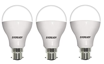 Eveready Base B22 14-Watt LED Bulb (Pack of 3, White) LED Bulbs at amazon