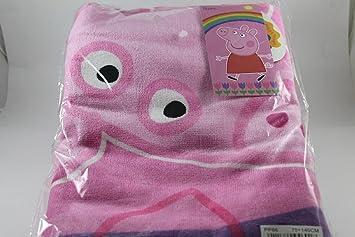 Peppa Pig Toalla de Playa 70 X 140 cm, Color rosa, Diseño de 100
