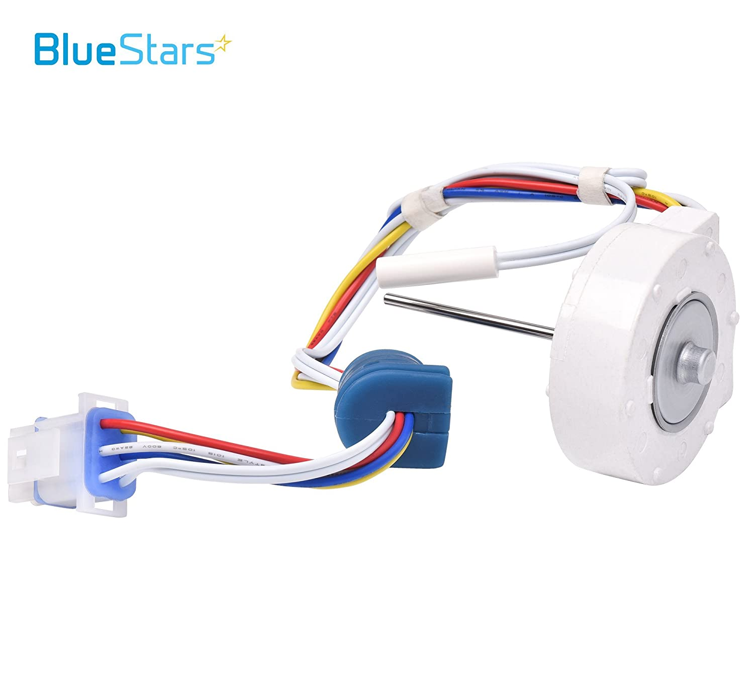 Exact Fit for GE Hotpoint Refrigerators Ultra Durable WR60X10307 Evaporator Fan Motor Replacement Part by Blue Stars Replaces 1550741 AP4438809 WR60X10224
