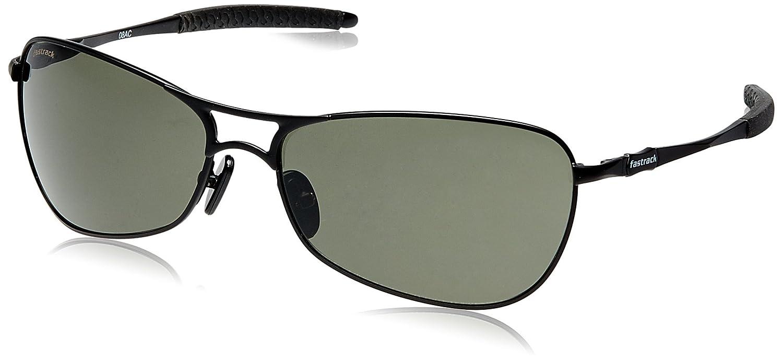c8adf0e8cbe2 Fastrack Semi-Rimless Unisex Sunglasses (M080GR2|63|Black): Amazon.in:  Clothing & Accessories