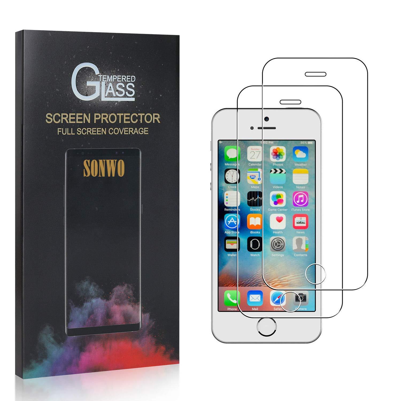 SONWO Panzerglas Schutzfolie f/ür iPhone SE//iPhone 5S iPhone 5 2 St/ück Anti-Kratzen Displayschutzfolie f/ür iPhone SE//iPhone 5S iPhone 5