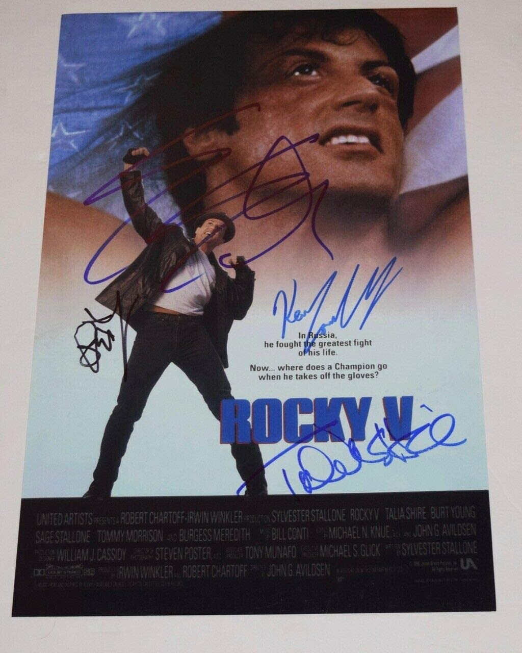 Burt Young Rocky Autograph 100/% Authentic comes with COA