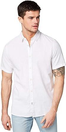 Tom Tailor Casual 1008844 Camisa, Blanco (White 20000), XX-Large para Hombre: Amazon.es: Ropa y accesorios