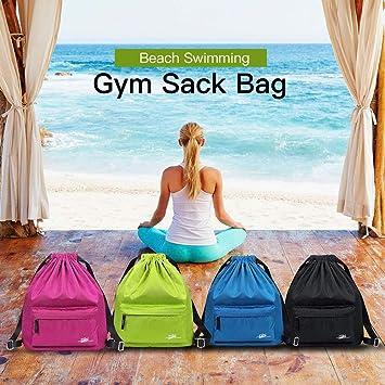 Explopur Beach Drawstring Bag - Bolsa de Saco de Gimnasia de ...