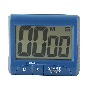 Gran pantalla LCD electrónico Digital temporizador de cuenta regresiva del reloj de alarma de la cocina: Amazon.es: Bebé