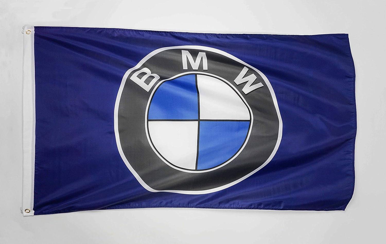 WHGJ Car Flag 3x5 FT Indoor Outdoor for BMW Racing Car Large Garage Decor Banner