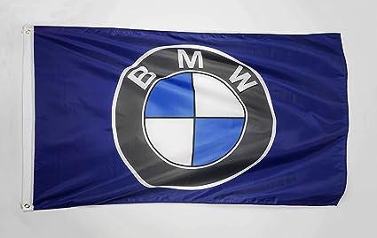 Whgj Car Flag 3x5 Ft Indoor Outdoor For Bmw Racing Car Large Garage Decor Banner Garten