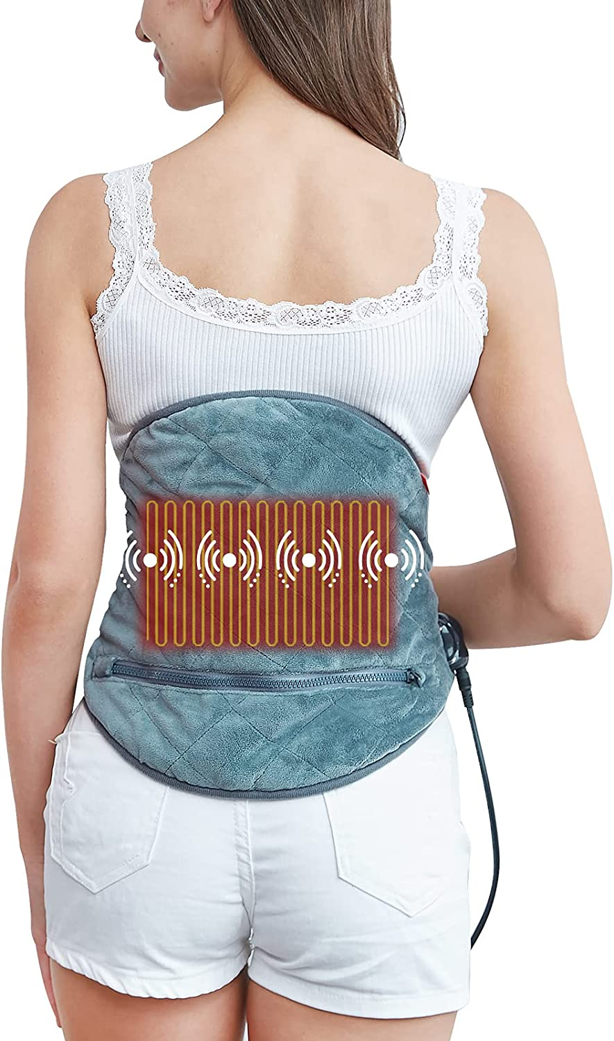 Washable Massage Heating Pad for Back Relief Pain Max 81% OFF New product type Pads