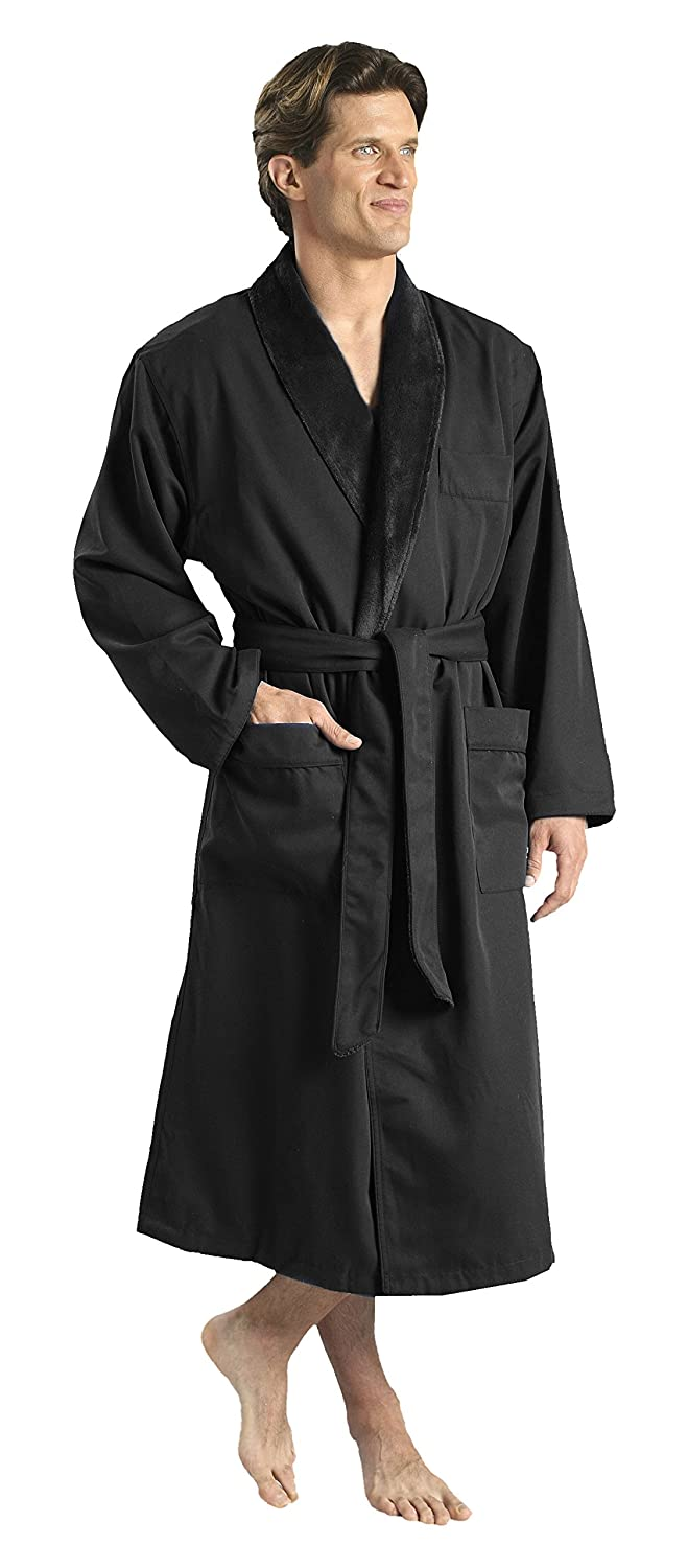 d1561b07d6 Plush Lined Microfiber Spa Robe - Unisex Luxury Hotel Bathrobe by  Monarch Cypress at Amazon Women s Clothing store  Bathrobes