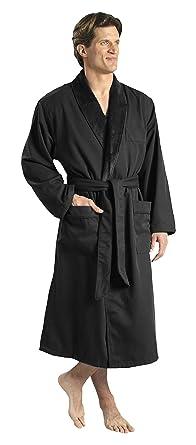 0cf75234e5 Monarch Cypress Plush Lined Microfiber Spa Robe - Unisex Luxury Hotel  Bathrobe in Black