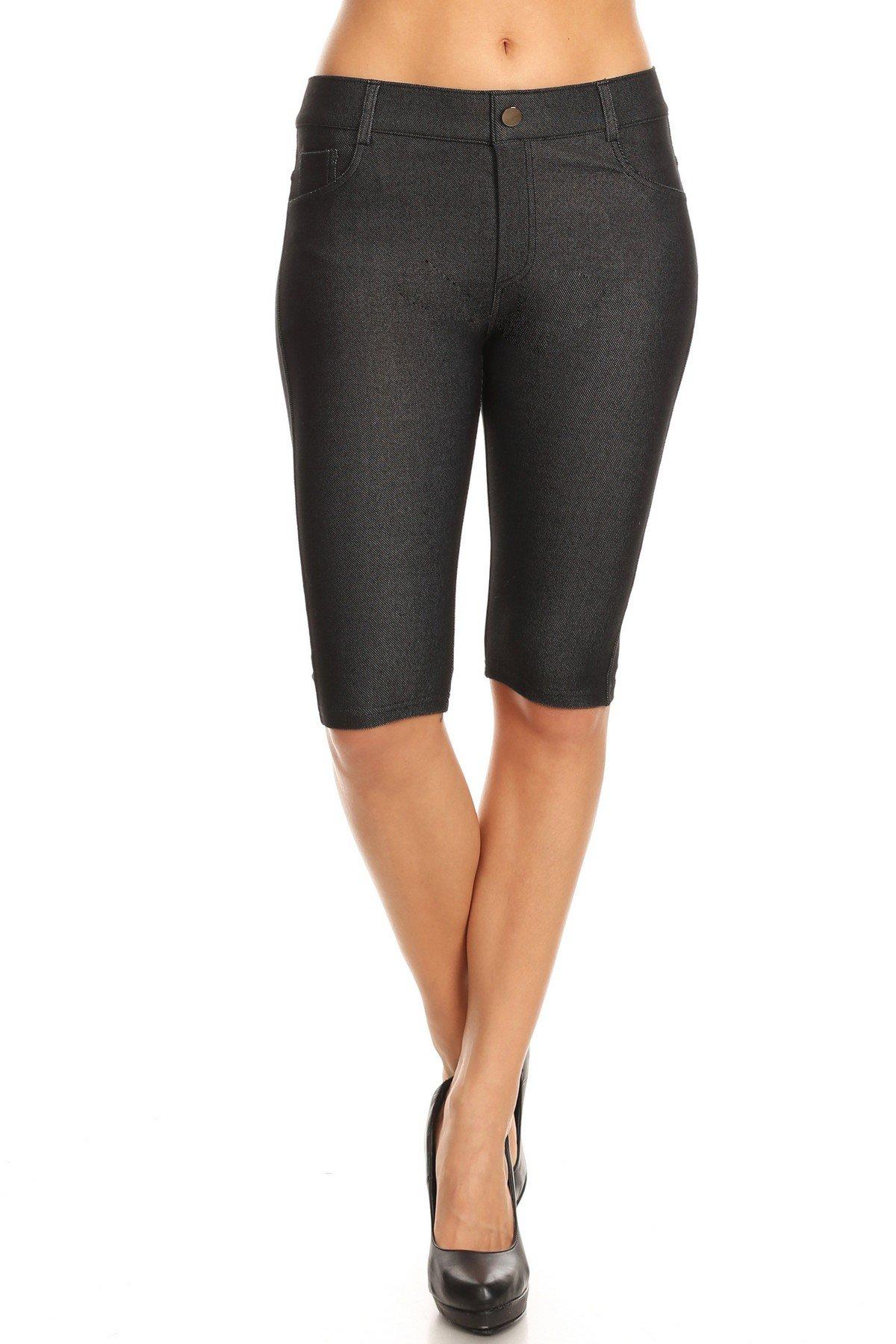 Yelete Women's Classic Bermuda Shorts (Black, Medium)