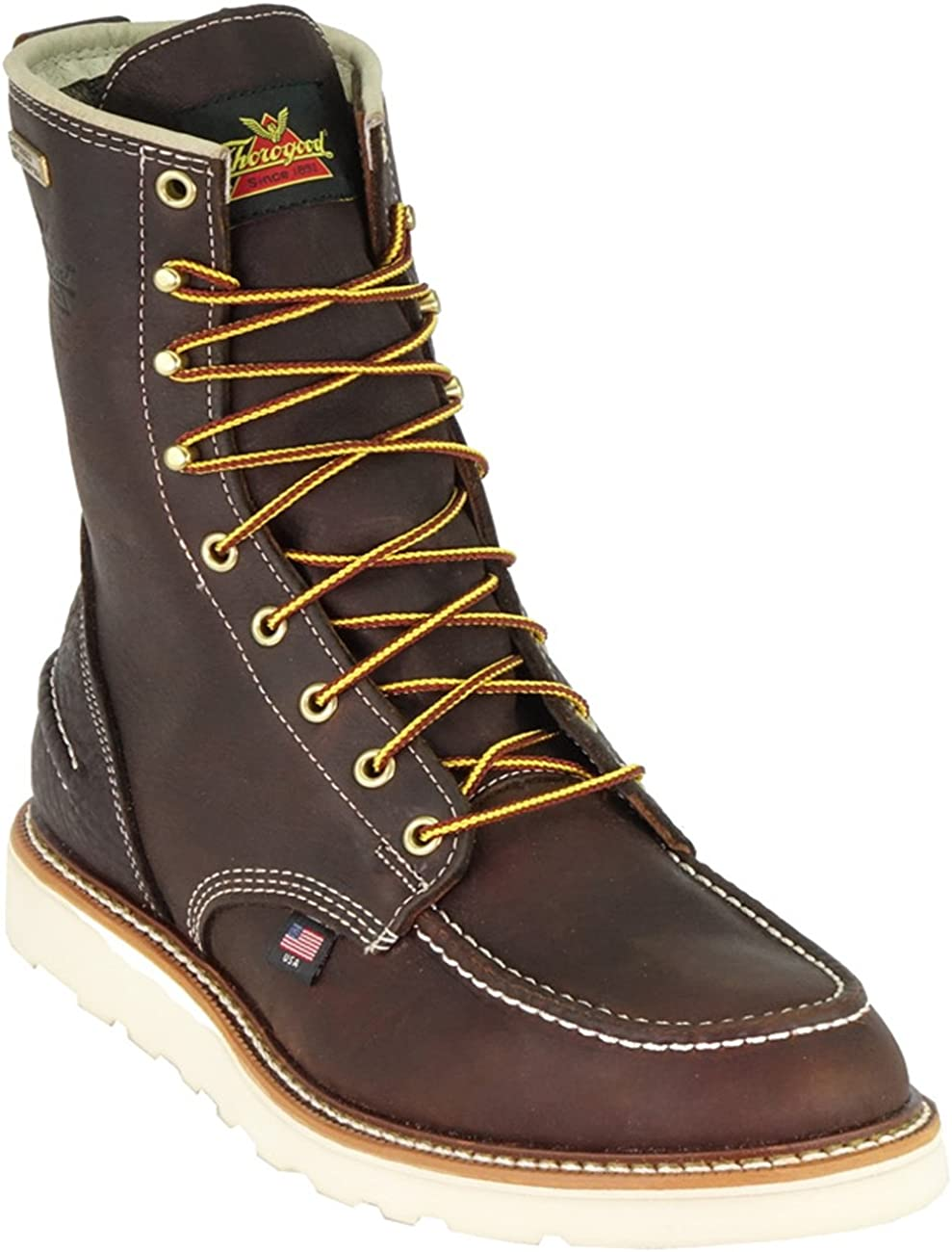 Thorogood Waterproof American Made Wedge Sole Ironworker Boots 814-4600