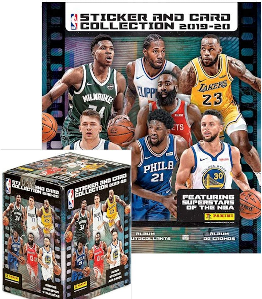 Panini NBA 2019//20 Collection Album Starter Pack 20 Stickers /& 4 Cards