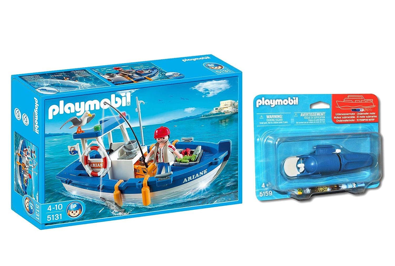 Outletdelocio. Playmobil 5131. Barco de Pesca con Motor ...