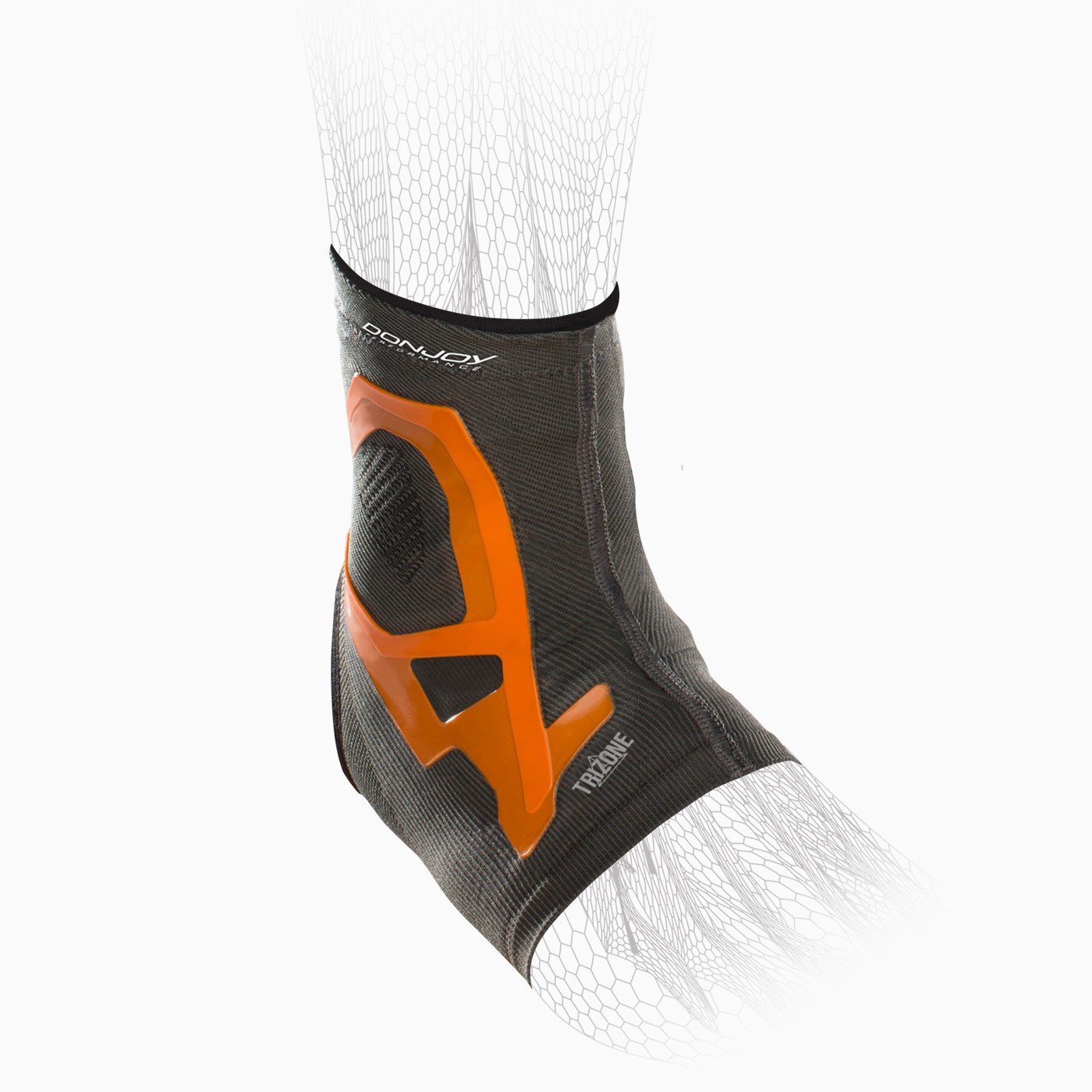 DonJoy Performance TRIZONE Compression: Ankle Support Brace, Orange, X-Large