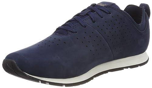 Timberland Lufkin Jogger, Zapatos de Cordones Oxford para Hombre, Azul (Black Iris Suede 019), 45 EU