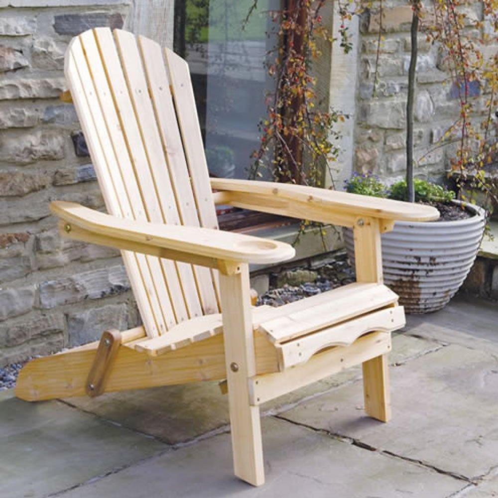 Sillón de jardín Adirondack Lounger Newby con reposa piernas ...
