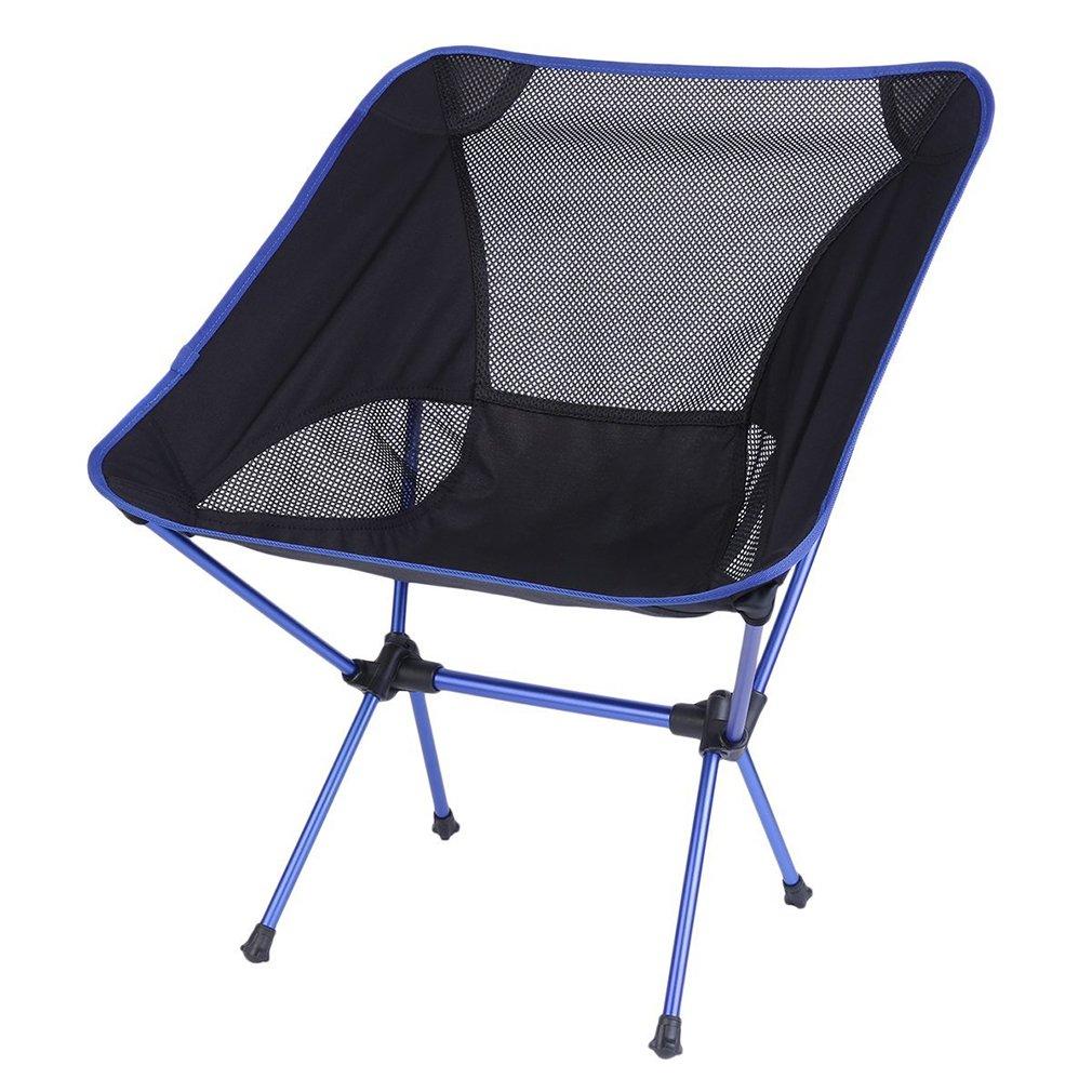 軽量折りたたみ椅子、OUTADアウトドアピクニック釣りキャンプにポータブル椅子携帯ケース、超軽量折りたたみ式のハイキングスポーツツーリングイベント、快適なハイバックデザイン B06ZZBKYQZ  ブラック