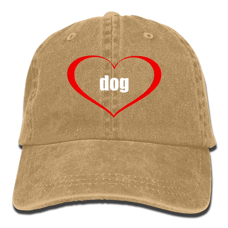 SHUANGRENDE Dogs Make Life Better Denim Hat Adjustable Mens Casual Baseball Caps