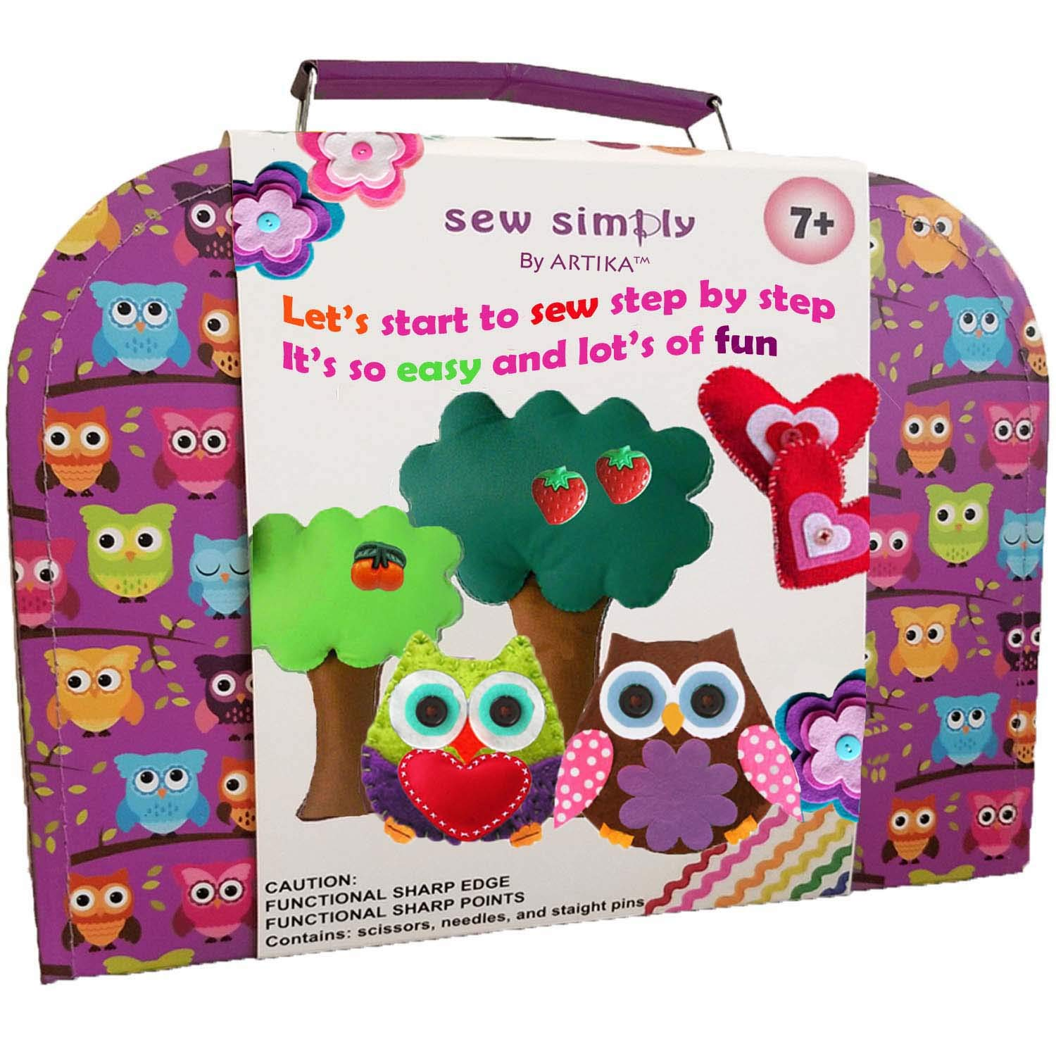 ARTIKA Sewing Kit for Kids, DIY Craft for Kids, The Most Wide-Ranging Kids Sewing Kit, Quality Kids Sewing Supplies, Includes a Booklet of Cutting Stencil Shapes for The First Step in Sewing by ARTIKA