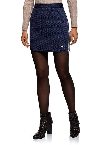 oodji Collection Mujer Falda de Punto Acolchada: Amazon.es: Ropa y ...