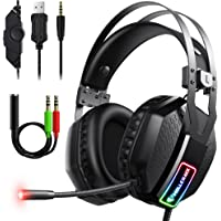 Mifanstech V-10 Gaming Headset for Xbox One Playstation 2 PS4 PS5 PC - 3.5mm Surround Sound, Noise Reduction Game…