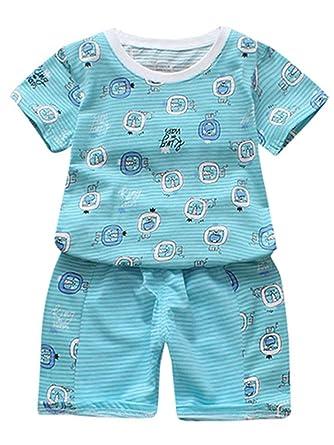 92a72e4eb70c Amazon.com  WARMSHOP Toddler Boys Girls Summer Clothes Set