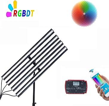 CAME-TV Boltzen Andromeda 2FT-R RGB LED Video Light,2FT Slim Tube Light Full Color Output CRI96 Adjustable 2000K-10000K for Studio Photography Interview Portrait YouTube,Barn-Door,Carry Bag TLCI97