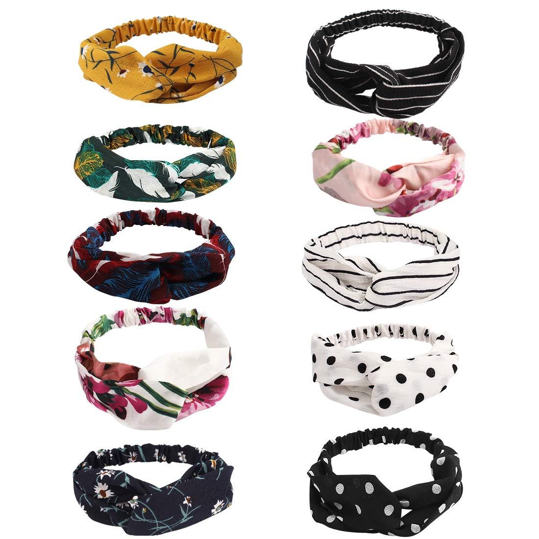 Vintage Wide Ribbon Girls Headbands Bandanas Hair Scarf Elastic Tops Solid Color
