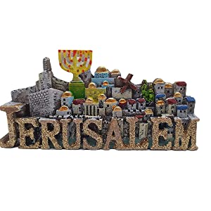 Holy Land Jerusalem Israel Middle East 3D Fridge Magnet Tourist Souvenir Gift Collection Also a Desktop Small Ornaments,Home & Kitchen Decoration Magnetic Sticker