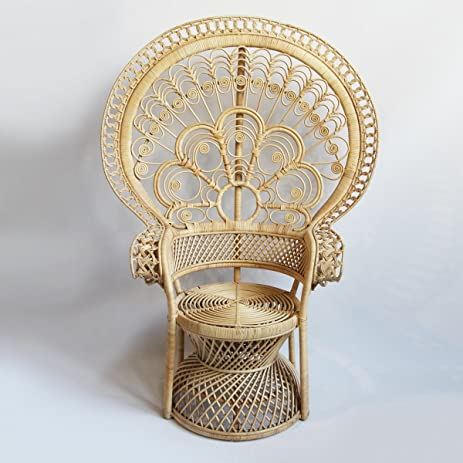 Lovely Matahari Raw Rattan Peacock Chair