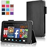 Fire HD 6 Case - Exact Amazon Kindle Fire HD 6 Case [PRO Series] - Premium PU Leather Folio Case for Amazon Kindle Fire HD 6 (2014) Black