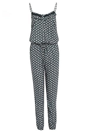 57465506c7a6 Ex White Stuff Ladies Blue Green Tile Aztec Print Collector Jumpsuit  Trousersuit (8)  Amazon.co.uk  Clothing