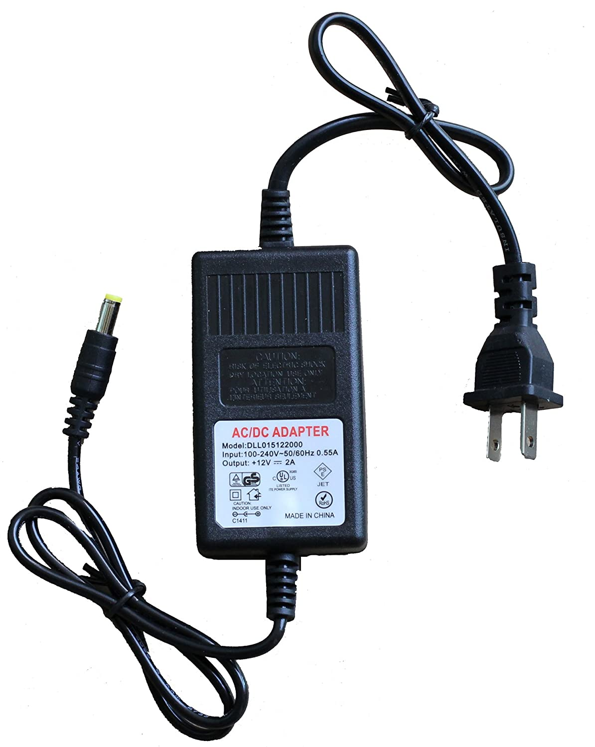 Vanxse Ac to Dc 12v 2000ma 2a Cctv Power Supply Adapter for Home Security  Camera Surveillance System