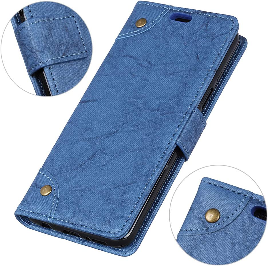 Fribuyit Compatible with Xiaomi Mi 8 Case Copper Buckle Magnetic Closure Silicone PU Leather Standing Anti-Scratch Case with Card Slots Pocket Cover for Xiaomi Mi 8