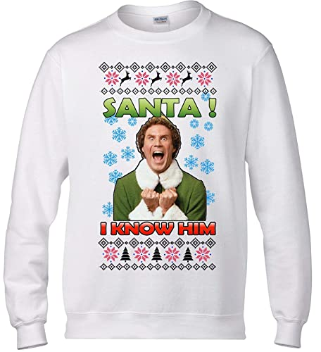 Amazoncom Santa I Know Him Ugly Christmas Sweater Buddy The Elf