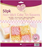 NON-STICK CAKE TIN SQUARES-50pk Liners 4-SIZES Grease-proof Baking New